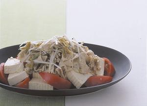 トマトと豆腐の中華冷しゃぶ