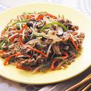 牛肉と野菜の甘辛炒め
