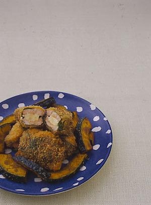 鮭のチーズはさみ揚げ