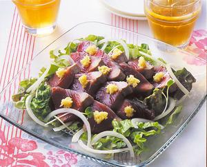 かつおのたたきサラダ