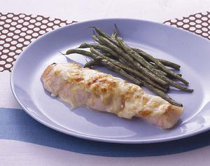 鮭のねぎみそチーズ焼き