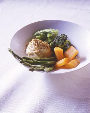 春野菜のごま豆腐ソース