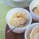 アイスクリームホットレモンはちみつソースかけ