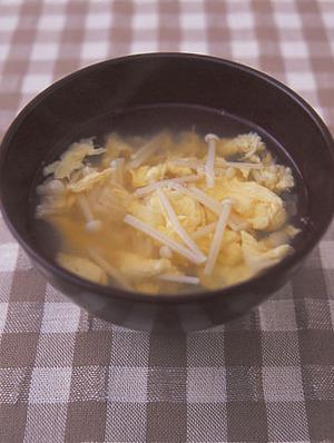 えのきと卵のすまし汁