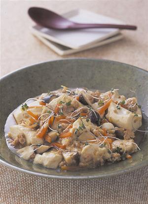豆腐と鶏ひき肉のとろみ煮
