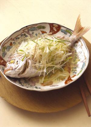 小鯛の香味野菜蒸し