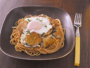コロッケのせスパゲティ