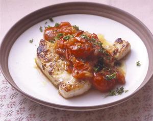 めかじきのソテー トマトソースがけ