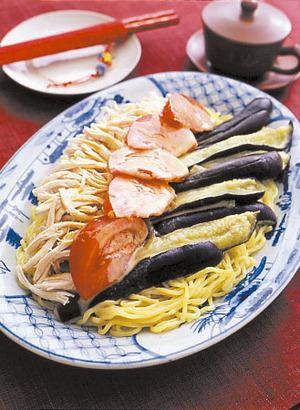 なすの棒棒鶏風麺
