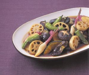 秋野菜の揚げびたし