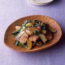 甘塩鮭と春野菜のドレッシングあえ