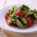 ゆでレタスとトマトの和風サラダ