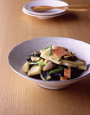 辛塩鮭の若竹煮