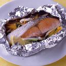 辛塩鮭のホイル焼き バター風味