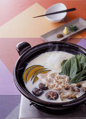 白みそ豆乳鍋