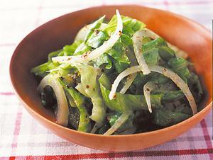レタスと玉ねぎのサラダ