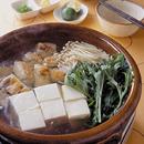 鶏と水菜の湯豆腐鍋