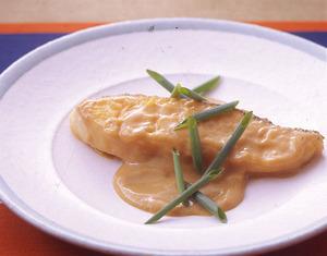 白身魚のソテーみそクリームソース