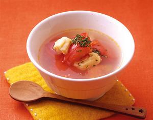フレッシュトマトと帆立てのスープ