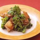 菜の花と鶏肉のマスタードソースあえ