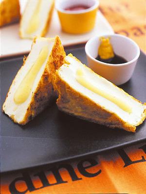 厚揚げのチーズサンド焼き