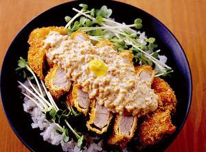 マヨ納豆カツ丼