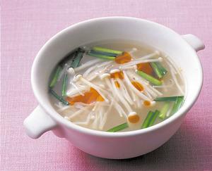 えのきとにらの中華スープ