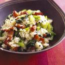 ベーコンと小松菜の混ぜご飯