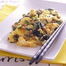 納豆とにらの卵炒め