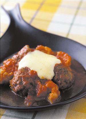 肉だんごのトマトチーズ煮込み