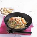 そら豆とサーモンのマヨネーズスパゲティ