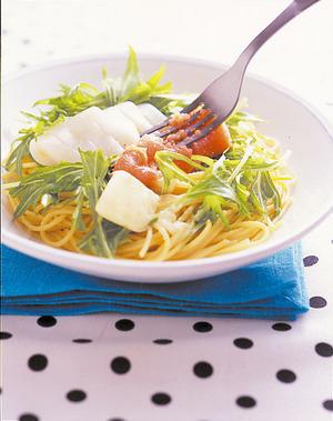 いかと水菜の明太スパゲティ