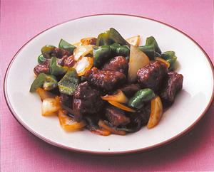 牛肉のケチャップソース炒め