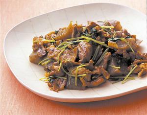 豚肉とこんにゃくのカレー炒め