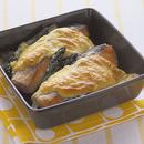 鮭とアスパラのマヨネーズグラタン