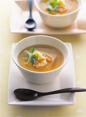 豆腐とえび入り茶碗蒸し