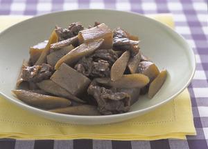 ごぼうと牛肉のいり煮