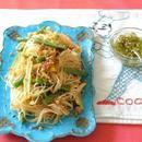 ひき肉といんげんの炒めビーフン