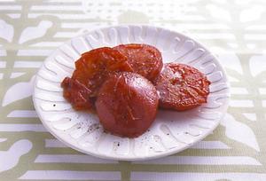 トマトのバターじょうゆ焼き