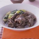 牛肉と青梗菜のすき煮