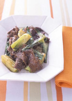 牛肉と青梗菜のスパイシー炒め