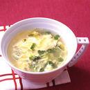 貝割れ入りかきたまスープ