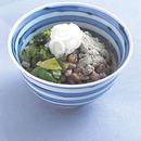 納豆とキャベツの昆布風味ご飯