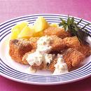 生鮭のフライ にんにくマヨソース