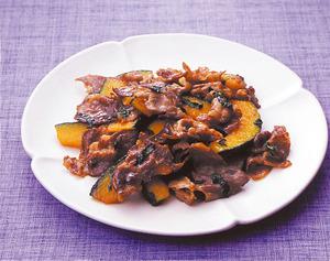 豚肉とかぼちゃのしそ風味炒め