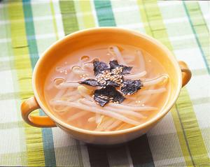 もやしの中華風スープ