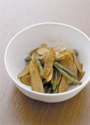 ごぼうといんげんの炒め煮
