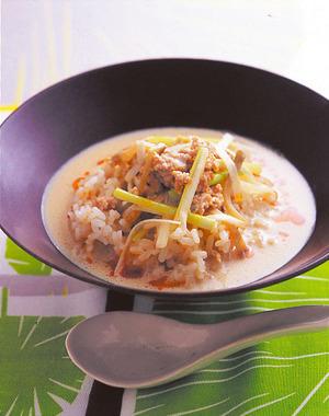 豆乳ザー菜スープご飯