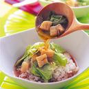 帆立ての中華風スープご飯