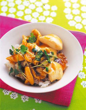 ささ身と豆腐のとろみご飯